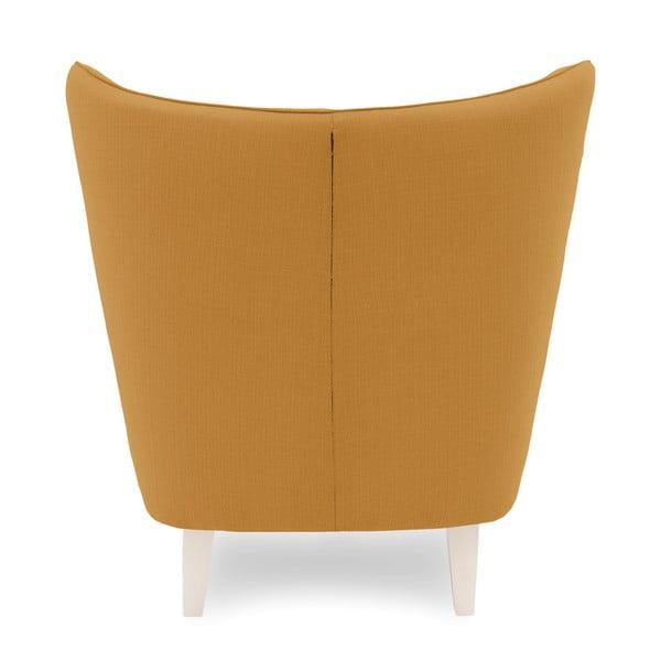 Miodowy fotel z jasnymi nogami Vivonita Sandy
