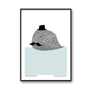 Plakat autorski Bonjour Monsieur, A4