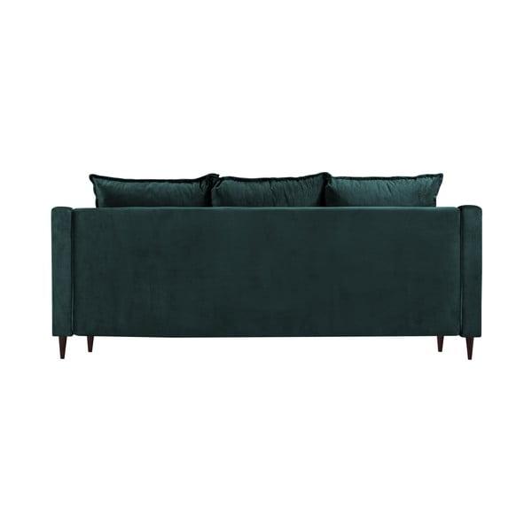 Niebieskozielona 3-osobowa rozkładana sofa Mazzini Sofas Freesia