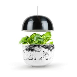 Czarno-biały inteligentny ogródek domowy Plantui Moomin Smart Garden Black