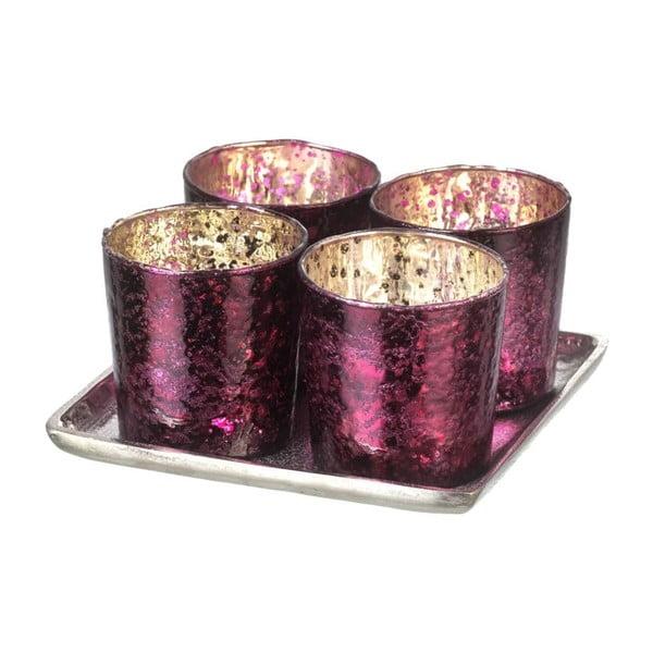 Świecznik Glamour Purple