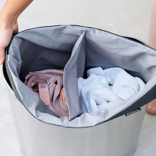 Kosz na pranie Selector 55 l, matowa stal