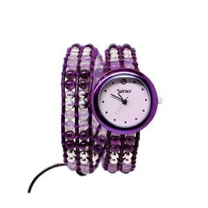Zegarek z koralikami Double, Purple Rain