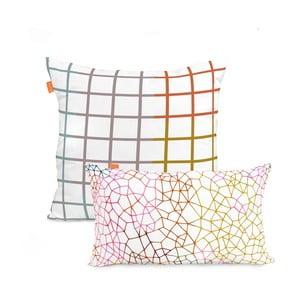 Zestaw 2 bawełnianych poszewek na poduszki Blanc Net, 50x50cm