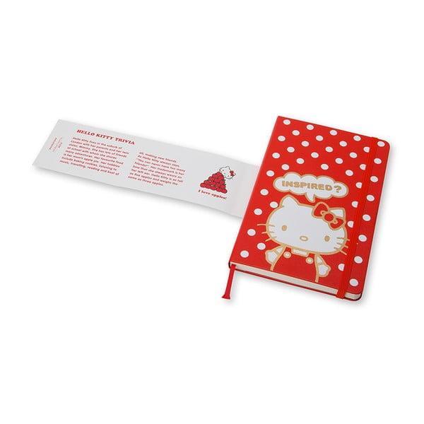 Czerwony notatnik gładki Moleskine Hello Kitty, mały