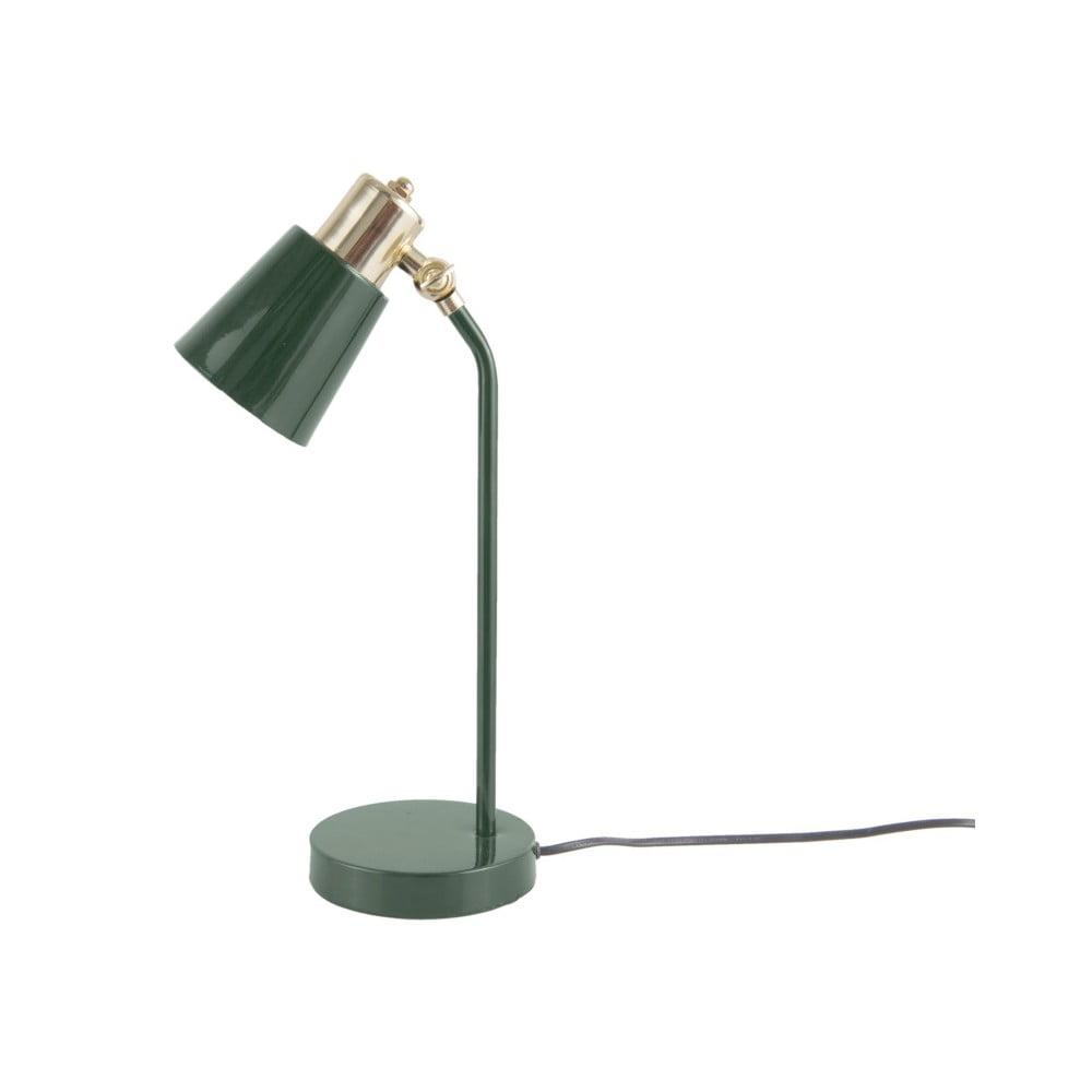 Ciemnozielona lampa stołowa Leitmotiv Classic