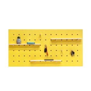 Żółty organizer ścienny Ragaba TRIVENTI, 120x60 cm
