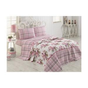Lekka narzuta na łóżko dwuosobowe Marta Pink, 200x230cm