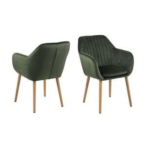 Zielone krzesło Actona Emilia