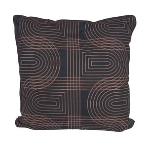 Poduszka Retro Grid Black, 45x45 cm