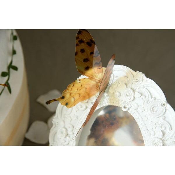 Zestaw 18 naklejek elektrostatycznych 3D Ambiance Butterflies Chic Brown