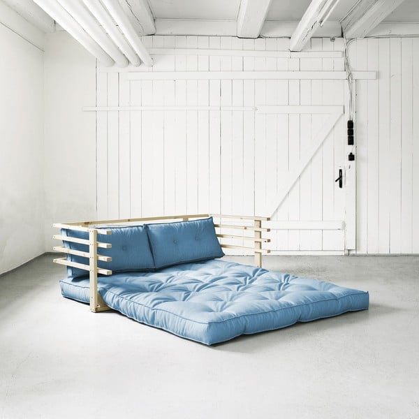 Sofa rozkładana Karup Funk Natural/Horizon Blue