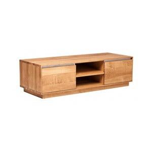 Stolik pod telewizor z dębowego drewna Fornestas Hamilton, szerokość 120cm