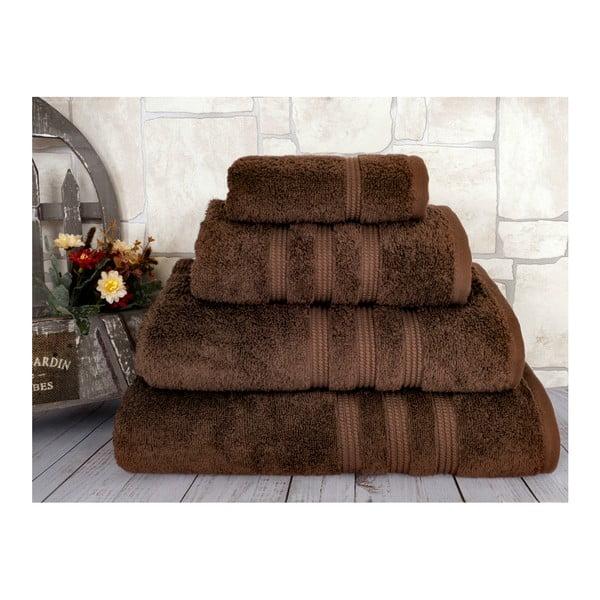 Ciemnobrązowy ręcznik Irya Home Classic, 50x90 cm