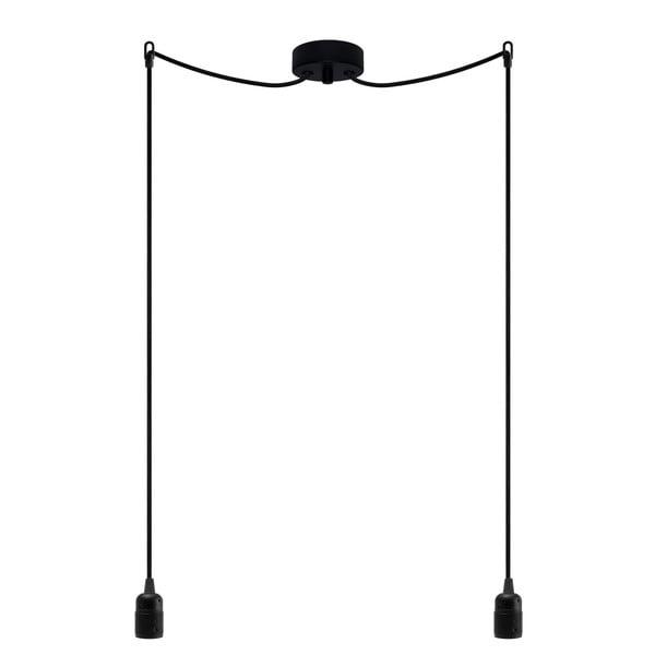 Lampa wisząca podwójna Uno, czarny/czarny/czarny