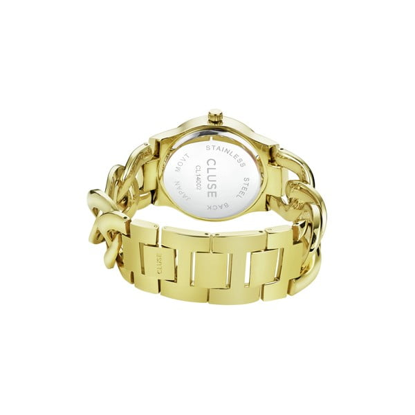 Zegarek damski Elegante Stones Gold/Blue Lagoon, 38 mm