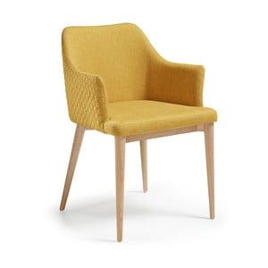 Żółty fotel La Forma Danai