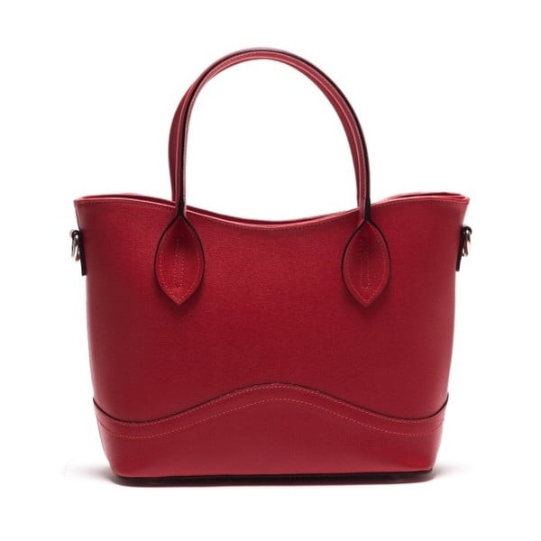 Skórzana torebka Anna Luchini 435L Rosso