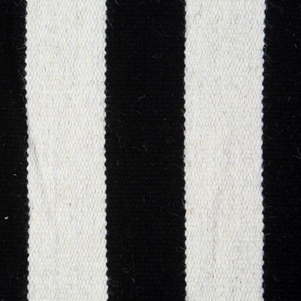 Dywan wełniany Geometry Stripes Black & White, 160x230 cm