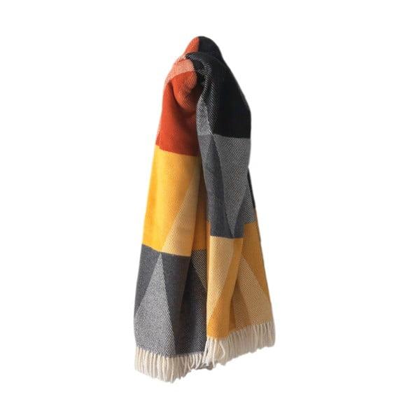 Kolorowy koc z dodatkiem bawełny Euromant Terras, 140x180cm