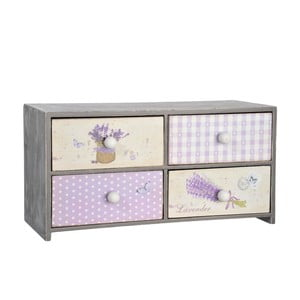 Pudełko z czterema szufladkami Lady