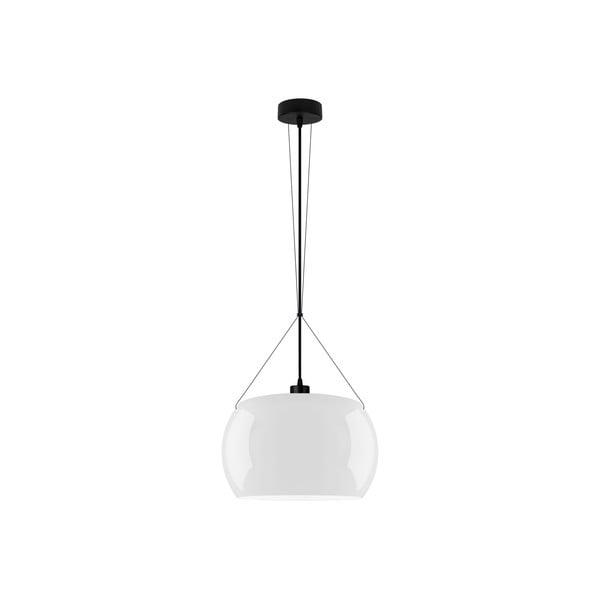 Czarno-biała błyszcząca lampa wisząca Sotto Luce MOMO Elementary 1S