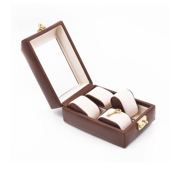 Skórzane puzderko na zegarek Ferruccio Laconi Brown