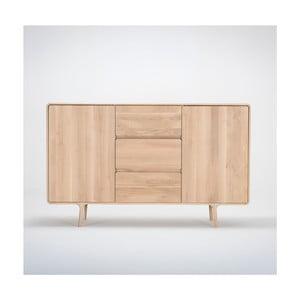 Komoda z litego drewna dębowego z 3 szufladami Gazzda Fawn, szer.180cm