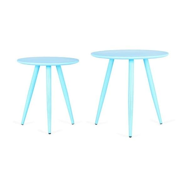 Zestaw 2 niebieskich stolików Design Twist Kiko