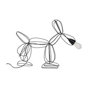 Czarna lampa stojąca Kare Design Dog
