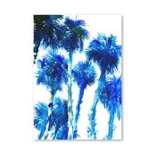 Plakat Trees Blue