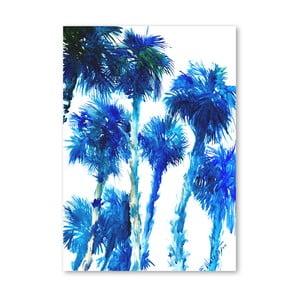 Plakat Trees Blue
