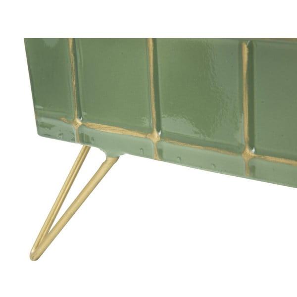 Zielona podręczna taca na nóżkach Mauro Ferretti