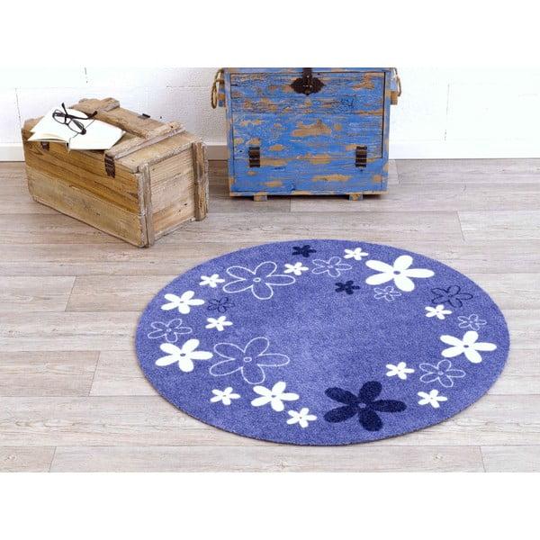 Fioletowy dywan dziecięcy Hanse Home Kwiaty, ⌀100cm