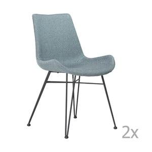 Zestaw 2 jasnoniebieskich krzeseł DAN– FORM Hype