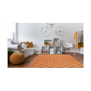 Pomarańczowy wytrzymały dywan odpowiedni na zewnątrz Floorita Trellis, 133x190 cm