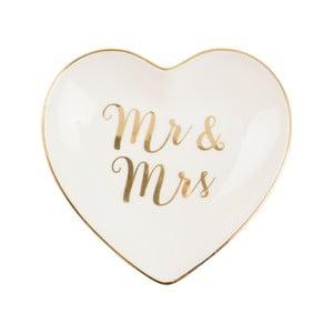 Talerz z ceramiki Sass & Belle Gold