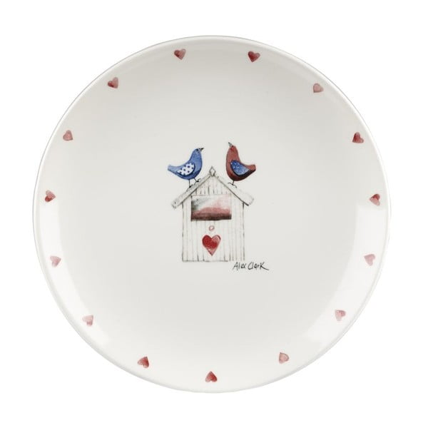 Komplet 6 talerzy Two Lovebirds, 20 cm