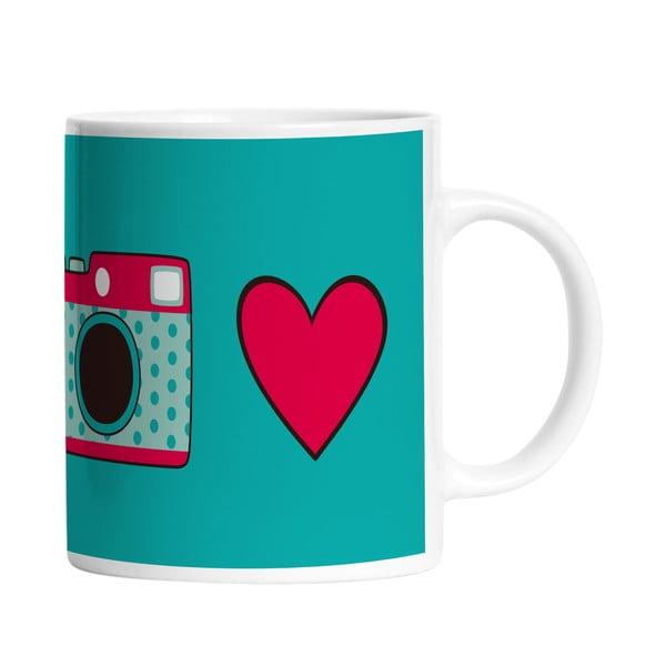Ceramiczny kubek Love Camera, 330 ml