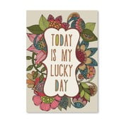 "Plakat ""Today is My Lucky Day"", Valentina Ramos"