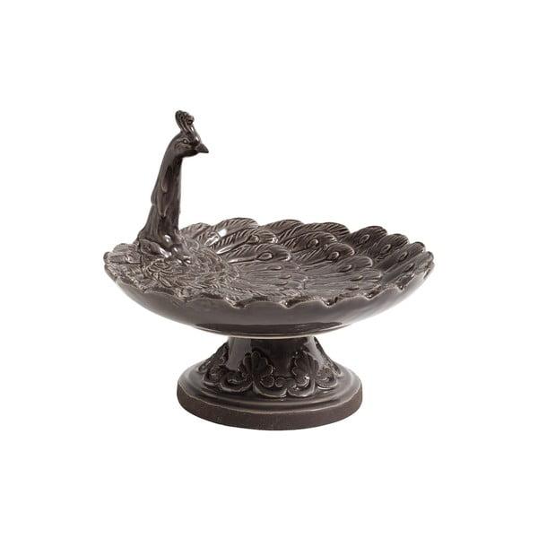 Szara taca ceramiczna Nordal Bird