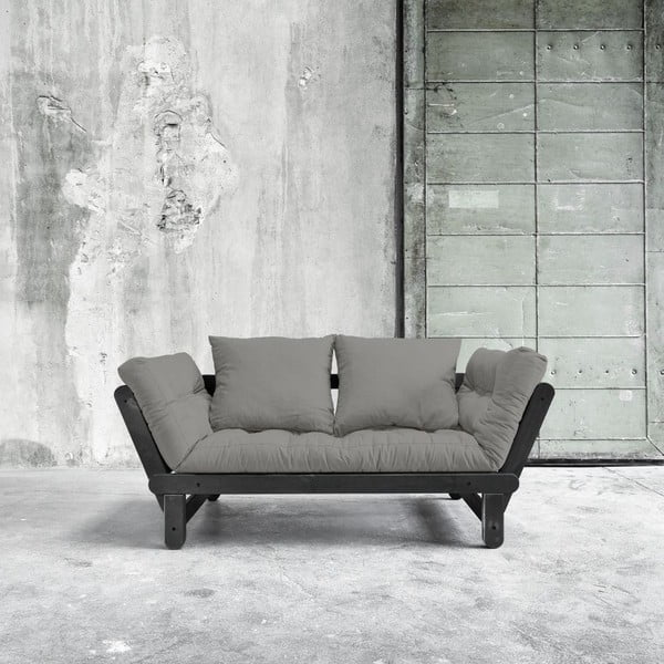 Sofa rozkładana Beat Black/Granite Grey