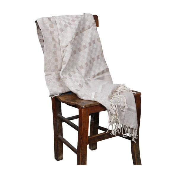 Ręcznie tkany ręcznik Hammam z bambusowego włókna Hera, 90x190 cm