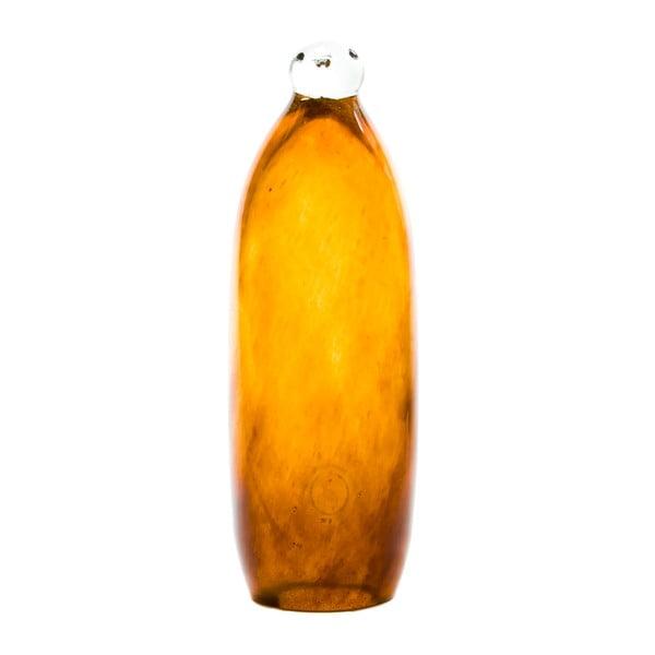 Szklany pingwin 27-30 cm, miodowy