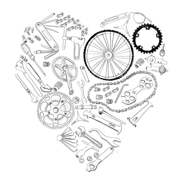 Plakat Bicycle Print, 30x40 cm