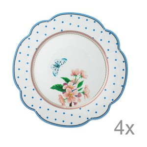 Porcelanowy talerz Dottie Lisbeth Dahl, 24 cm, 4 szt.