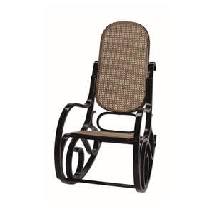 Fotel bujany z ciemnobrązową konstrukcją Geese Ginger