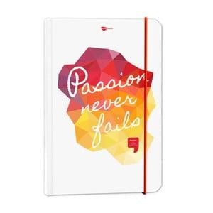 Notatnik Passion never fails