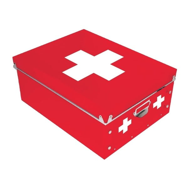 Czerwone   pudełko na leki Incidence Cross