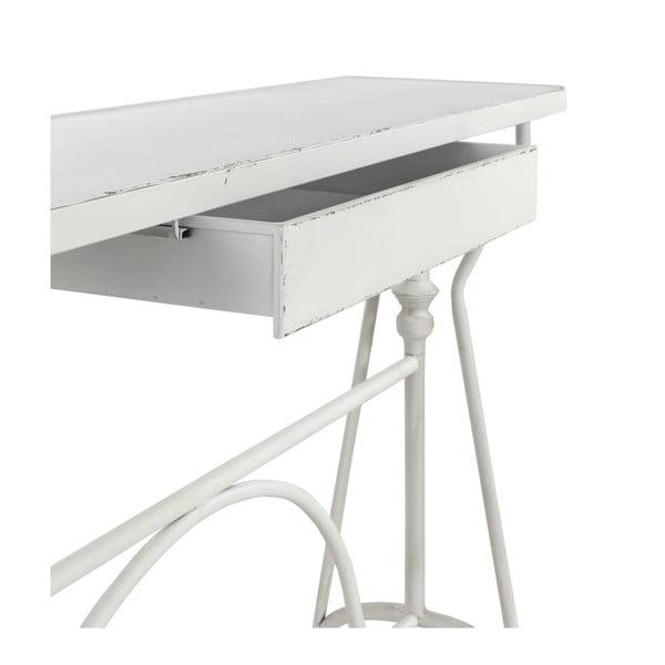 Biała metalowa konsola z szufladą Geese Industrial Style